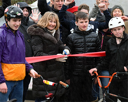 Official opening of Whiteparish's new skatepark